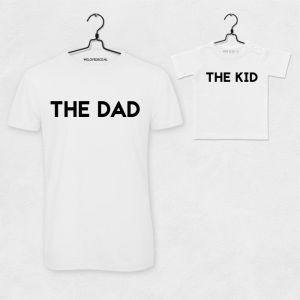 T-shirt set The Dad & The Kid wit