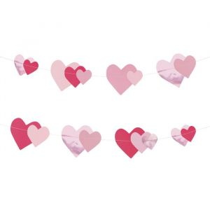 Slinger Pink Hearts (16st) My Little Day