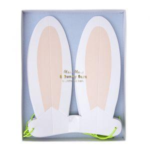 Papieren dierenoren Pastel Bunny (8st) Meri Meri