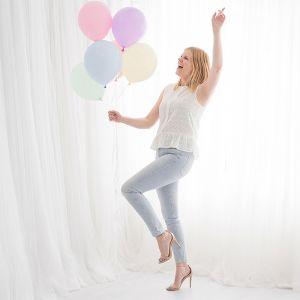 Pastel ballonnen lila (10st) House of Gia