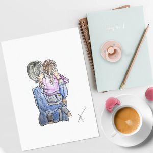 Persoonlijke illustratie ouder met kind Sophie de Ruiter