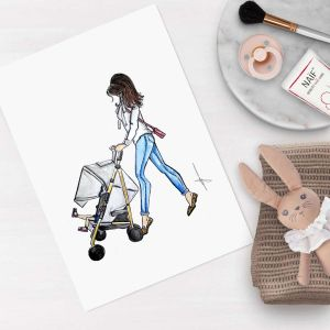 Persoonlijke illustratie proud mommy Sophie de Ruiter