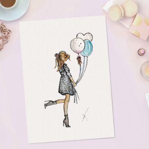 Persoonlijke verjaardagsillustratie Sophie de Ruiter