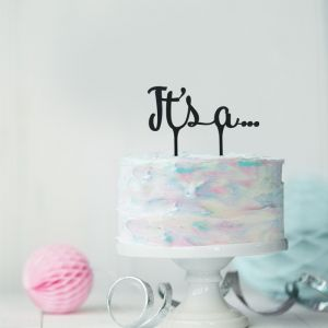 Gender reveal taarttopper It's a… acryl