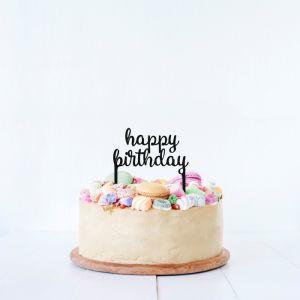 Happy Birthday taarttopper acryl