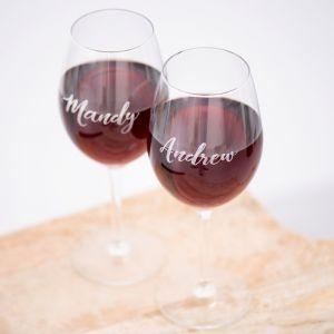 Wijnglas graveren met naam