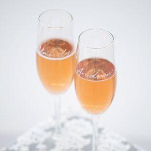 Champagneglas graveren met naam