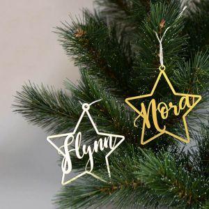 Kersthanger ster met naam