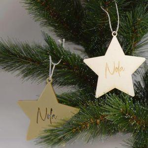 Kersthanger met naam