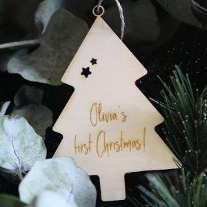 Gepersonaliseerd kerstboompje my first christmas