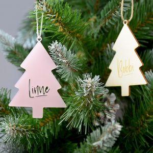 Kersthanger met naam boom