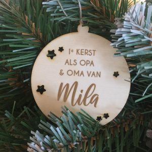 Gepersonaliseerde kerstbal eerste kerst als opa en oma