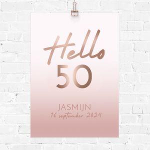 Verjaardag poster hello 50