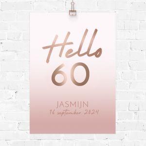 Verjaardag poster hello 60
