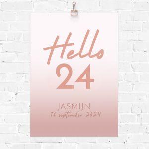 Verjaardag poster hello leeftijd
