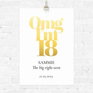 Verjaardag poster omg 18