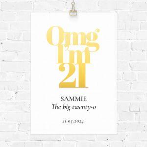 Verjaardag poster omg 21