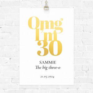 Verjaardag poster omg 30