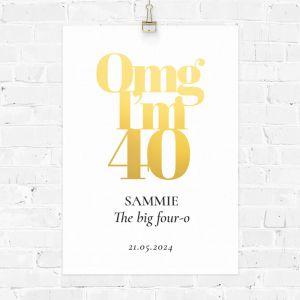 Verjaardag poster omg 40