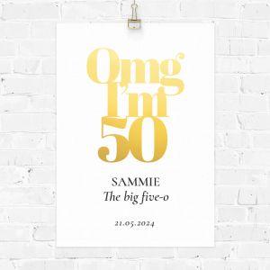 Verjaardag poster omg 50