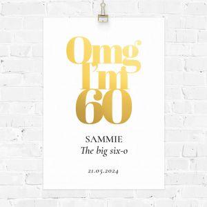 Verjaardag poster omg 60