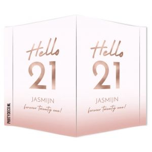 Raambord verjaardag hello 21