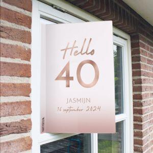 Raambord verjaardag hello 40
