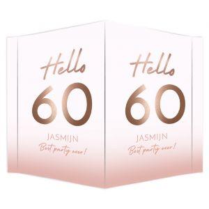 Raambord verjaardag hello 60