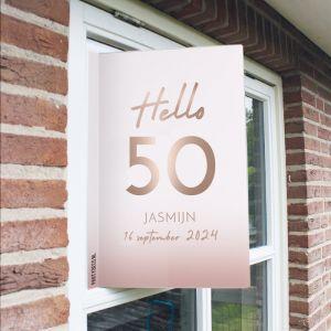 Raambord verjaardag hello 50