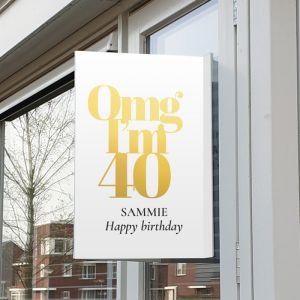 Raambord verjaardag omg 40