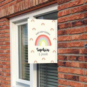 Raambord verjaardag rainbow