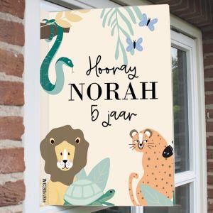 Raambord verjaardag safari