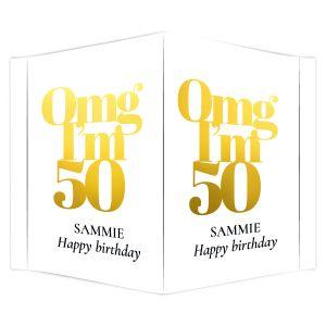 Raambord verjaardag omg 50