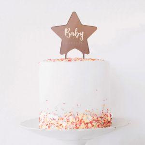 Gepersonaliseerde taarttopper twinkle twinkle little star