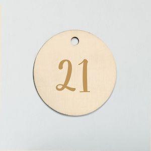 Houten labeltje met naam of leeftijd