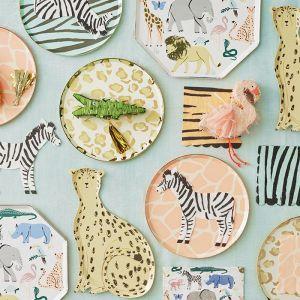 Gebaksbordjes Safari Animal print (8st) Meri Meri
