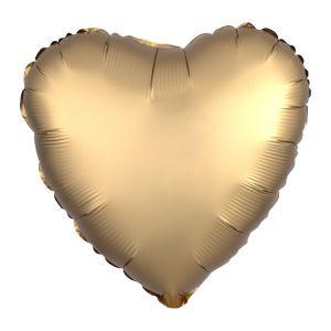 Folieballon Satin Luxe hart goud (43cm)