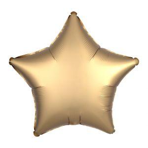 Folieballon Satin Luxe ster goud (43cm)