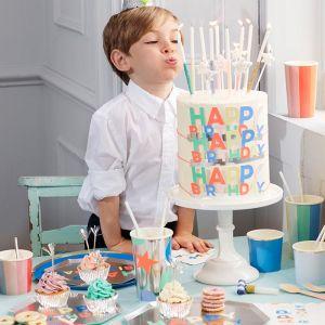 Feestkroontjes Happy Birthday (8st) Meri Meri
