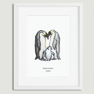 Aquarel illustratie pinguins door Sophie de Ruiter