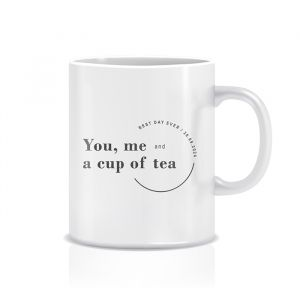 you, me and a cup of tea gepersonaliseerde mok