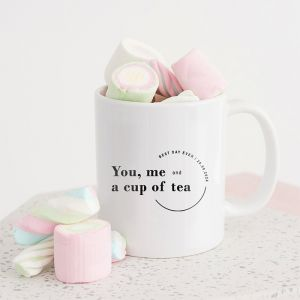 Mok you, me and a cup of tea gepersonaliseerd