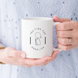 Mok tea time gepersonaliseerd met naam