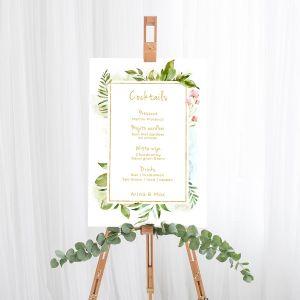 Cocktailbord bord Geomatric floral
