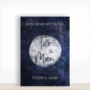 Verjaardagsbord 2 jaar two the moon