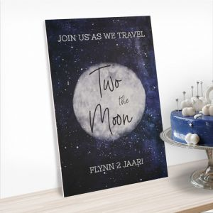 Verjaardagsbord 2 jaar two the moon