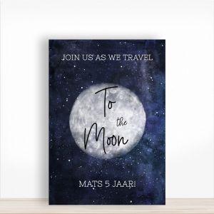 Verjaardagsbord to the moon