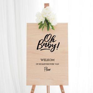 Welkomstbord babyshower Oh Baby
