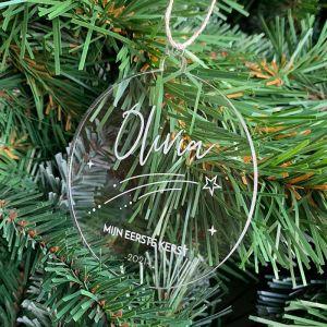 Gepersonaliseerde kersthanger vallende ster