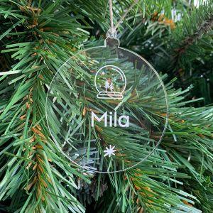 Gepersonaliseerde kersthanger sneeuwbol kerstboompjes